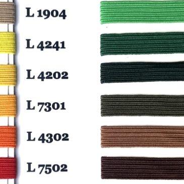 Paleta kolorów gumek płaskich